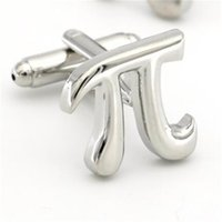 Mathematical Symbols Design Pi Cufflinks Non-rusting Silver Color Cuff Links Wholesale&retail Quality Brass Material L0310 215 W2