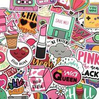 61 pink cute stickers refrigerator motorcycle Skin Protectors suitcase laptop luggage skateboard waterproof sticker