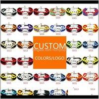 Mix Styles Fußball Baseball Outdoor Paracord Survival Armbänder U Snowle Schlüsselketten Custom Made Camping Kundenspezifisches Logo Armband O4A1 N24SI