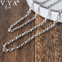 V.YA S925 collana in argento artigianale a mano vintage thai argento neckace per pendenti reali argento collana lunga catena per uomo donna 210512