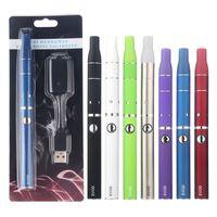 Ecig Vape Evod Kuru Herb Buharlaştırıcı Kiti Önce Bitkisel Atomizer Buharlaştırıcılar Elektronik Sigara USB Şarj Blister Pack EGO Buharı