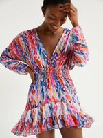 Casual Dresses Big-name Summer Chiffon 3D Hand-painted Printing Ladies Pleated Dress 2021 Fashion Elastic Waist Big Puff Skirt Bra XL