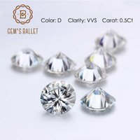GEM'S BALLET Cut 0.5Ct 5.0mm Round Moissanite Loose Gemstones D Color VVS Clarity Moissanite for Engagement Ring Fine Jewelry H1015