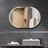 Kozmetik Aynalar Makyaj Mirro Akıllı Dokunmatik Ekran Duvara Monte Tuvalet Banyo Için LED