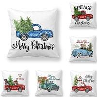 Подушка / декоративная подушка из Гзцмы с рождественскими украшениями для домашнего года 2021 Navidad Natal Орнаменты автомобиля сосновая подушка 45x45см