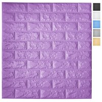 Art3d 5-Pack Peel and Stick 3D Wallpaper Panels for Interior Wall Decor Self-Adhesive Foam Brick Wallpapers in Purple, Covers 29 Sq.Ft