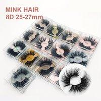 5D Mink Wimpern 25-27mm verlängert mehrschichtige buschige dicke curl falsche wimpern wiederverwendbare 8d flaumige Eye Wimpern in Square Box Makeups Werkzeuge