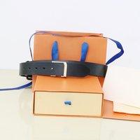 2022 Hebilla de moda Cinturón de cuero genuino Ancho 3,8 cm 20 Estilos Altamente calidad con diseñador de cajas Hombres Mujeres Cinturones para hombre AAAA218
