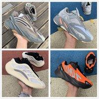 Kanye 700 V2 Беговые Обувь Обувь оси Blue Zebra Winder Жемчужный Хвост Свет 3 м Светоотражающий ISRAFIL Асриэль Льняные Тренеры Мужские Женщины Высочайшее Качество с Размер коробки US12 US13 WTIH Половина