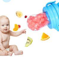 Baby Pacifiers Teethers Nipple Fruit Food Mordedor Silicona Bebe Silicone Teethe Safety Feeder Bite Foods Orthodontic Nipples BWD7732