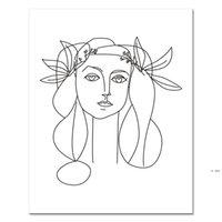 Linha abstrata nórdica arte pinturas sexy mulher corpo nu parede pintura de pintura de lona Pôsteres Impressões Decoração para Livingroom HWD6235