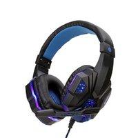 Headphones & Earphones Gaming Bass Stereo PC Wired Headset PS4 Head-mounted With Microphone LED Light For Computer Phone