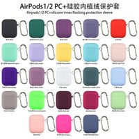 Official Original Silicone Airpods Cases Wireless Bluetooth Silicon Liquid Apple Air pods 2 3 Cover Earphone Candy Color Hard Protective Case Fundas with keychain