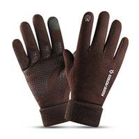 Fralu Winterhandschuhe für Männer winddicht warm dicker Geschäftsmann hautfreundlicher Touchscreen Nachtreiten