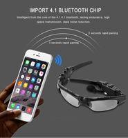 Smart Glasses Bluetooth V4.1 Occhiali da sole vivavoce Sun Glass Sports Auricolare MP3 Player Bluetooth Telefono wireless Auricolari Bluetooth Eyeglasses Bluetooth