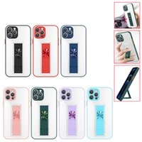 Magnetic Car Holder Transparent Cases For Iphone 11 12 Pro Max Xr Xs 7 8 Plus Se2020 Invisible Phone Bracket Wrist Protective Cover Anti-fall Shockproof