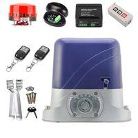 Fingerprint Access Control 800KG Electric Sliding Gate Opener Engine Automatic Door Motor WIFI Wireless Keypad Remote Kit No Racks