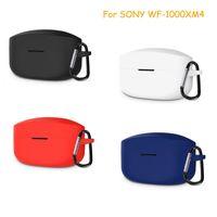 Massivfarbe Schutzhülle für Sony WF-1000xm4 Wireless Bluetooth Headset Cover Silikonschale Kopfhörer Zubehör
