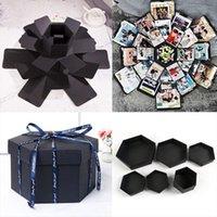 Boy Girl Surprise Box Cosmetic Bags Gifts Anniversary 5 Layer 6 Sided Memory Photo Display Storage Ribbon Diy Album Wedding