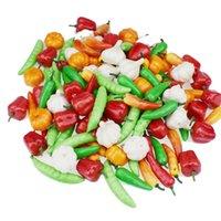 20 unids burbuja mini simulación vegetal pimiento verde pimiento pequeño calabaza ajo joven niños cocina juguete accesorios 1046 y2