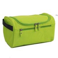 Portable Storage Bags Waterproof Men Solid Color Outdoor Sports Travel Duffel Zip Makeup Wash Bag OWF10378