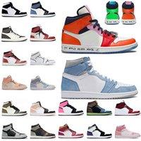 Nike Air Jordan Retro 1 With Box JUMPMAN 1 1s Women Mens Basketball Shoes High OG Hyper Royal Patina Mid Barely Orange Shadow 2.0 Twist Trainers 스니커즈 스포츠