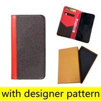 L مصمم الأزياء محفظة الحالات الهاتف لآيفون 12 11 برو ماكس xs xr xsmax 7 8 زائد جودة عالية الجلود بطاقة جيب ملصقا الهاتف المحمول