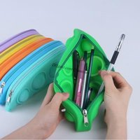 Fidget Pencil Case Simple Sensory Box Push Pop Cases Toy Silicone Bubble Stationery Storage Bag Decompression Toys Halloween Xmas Birthday Party School Gifts