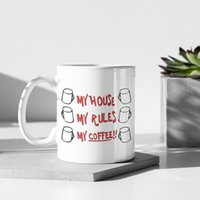 Mugs 2021 Knife Out Of The Sheath My House Rules 110z Ceramic Christmas Gift Tea Milk Coffee Cup Mug Large-capacity Water