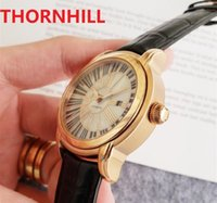 Genuine Leather Buckle Mens Watch Fully Automatic Mechanical Watches 45mm 316L Stainless Steel Case classic atmosphere good looking Self-wind Wristwatches Gift