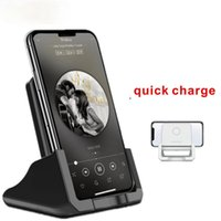 10W 15W Wireless Qi Charging Stand USB Mobile Phone Charger For Samsung S10 S9 S8 Note10 Xiaomi mi 9 10 iphone 12 11 X XS XR 8