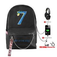 حقيبة الظهر الأزياء بنطلون بانغتان طباعة خريطة الروح 7 الفتيات في سن المراهقة حقيبة USB القابلة لإعادة الشحن حقيبة مدرسية المرأة السفر المرأة