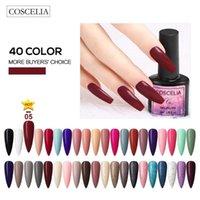 Nail Art Kits 8ml Gel Polish Set 20 30 40PCS Glitter COSCELIA Semi Permanent Base Top Coat UV LED Nails Manicure Kit