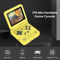 Portable Game Players IPS Screen Flip Handheld Console Dual Open System 16 Simulators Retro PS1 Kids Gift 3D
