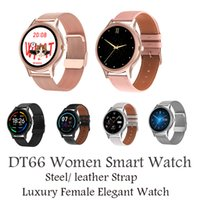 DT66 Round Shape Fashion Women Luxury Smart Watches DIY Watch Face Female Sports Wristband Fitness Bracelets for iOS Android