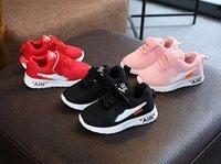 ربيع الخريف الأطفال الأولى مشوا تنفس مريحة أطفال أحذية رياضية بنين بنات طفل أحذية أزرق + أحمر + أسود + وردي الطفل Size21-30