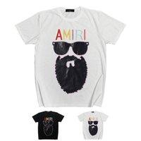 Amir i Street fashion US amiry short sunglasses old man embroidery ins casual hip hop high street half sleeve t-shirt men ZBXH