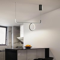 Pendant Lamps 2021 Modern Simple Long Chandelier Corridor Kitchen Art Deco Interior Lighting Home Living Room Ring