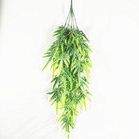 Decoratieve bloemen kransen 78cm lang gesimuleerde asperges gras bamboe blad strook decoratie spuit kleur muur opknoping plant materiaal groen