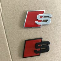 car Metal S Logo Sline Emblem Badge Sticker A4 TT Boot Audi Car Black Door Side Fit Accessories Front Quattro Red SQ5 S6 For Rear S7 Dkjbs