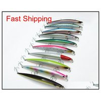 Baits Lures Sports Outdoors Drop Delivery 2021 Sea Slender Shape Minnow Lure Plastic Hard Casting Spinner Bait Fishing Tackle China Hook Susp