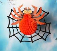 Vintage Petek Krep Kağıt Cadılar Bayramı Örümcek Web Büyük Dev Büyük Boy Örümcekler Parti Dekorasyon Hayalet Festivali Ev Bahçe FWB9533