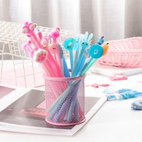 Gel Pens 1 Set 10pcs MIX 4 Color Style Signature Pen With Bag Stationery Student Neutral Writing School Supply Girl Gift