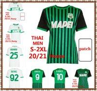 4XL 20/21 Sassuolo Calcio Soccer Trackys 2021 Home Lirola князь Matri Sernicola Over Футбольная рубашка