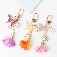 Keychains Creative Fashion Tassel Charm Keychain Cute Fun Butterfly Color Girls Bag Pendant Accessories Mobile Phone