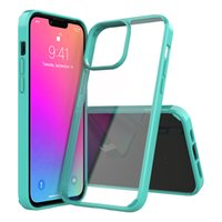 two-in-one Acrylic transparent Hard Phone Cases Fall prevention For Iphone 13 12 mini 11 pro X XS XR max 6 6s 7 8 PLUS Shockproof Stiffening business men women cover case