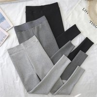 Women's Leggings Winter Pants For Women Warm Tights Solid Tight Thick Cashmere Trousers Autumn Bottoming