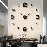 2021 Modern Design Large Wall Clock 3D DIY Quartz Clocks Fashion Watches Acrylic Mirror Stickers Living Room Home Decor Horloge