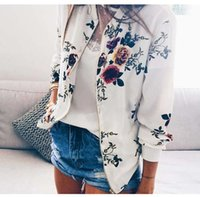 Retro Floral Printed Short Jacket Woman Zipper Bomber Female Spring Outwear Casual Long Sleeve Women's Clothes Plus Size 5XL JK04