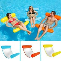 Pool & Accessories Floating Water Hammock Float Lounger Inflatable Bed Chair Beach Swimming Foldable